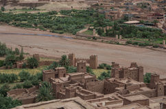 Kasbah Ait Ben Haddou nas montanhas de atlas de Marrocos Medieva Imagem de Stock Royalty Free
