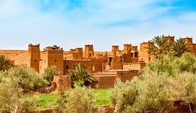 Kasbah Ait Ben Haddou near Ouarzazate Morocco. UNESCO World Heritage Site. Amazing view of Kasbah Ait Ben Haddou near Ouarzazate in the Atlas Mountains of royalty free stock photo