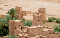 Kasbah Ait-Ben-Haddou towers, Morocco Stock Image