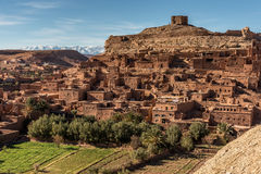 Kasbah Ait Ben Hadou near Ouarzazate Royalty Free Stock Photography