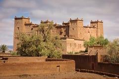 Kasbah Ait Ben Moro Skoura Maroko obraz stock