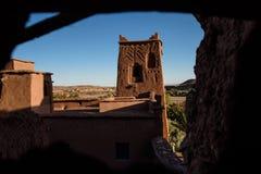 Kasbah Ait Benhaddou в горах атласа Марокко Стоковое Изображение