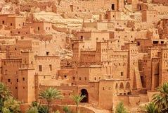 Kasbah Ait Benhaddou глины, Марокко Стоковые Фотографии RF