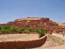 Kasbah Ait Benhaddou Ait本Haddouold镇Ksar Sah的 库存照片