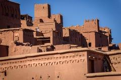 Kasbah Ait Benhaddou in de Atlasbergen van Marokko Stock Foto's