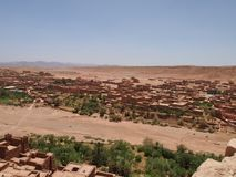 Kasbah Ait Benhaddou Ksar de ville d'AIT-Ben-Haddouold dans le Sah images stock