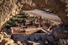 Kasbah Ait Benhaddou nas montanhas de atlas de Marrocos Fotografia de Stock Royalty Free