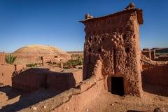 Kasbah Ait Benhaddou nas montanhas de atlas de Marrocos Fotos de Stock Royalty Free