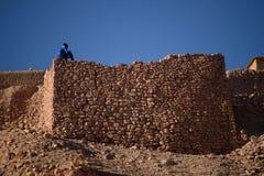 Kasbah Ait Benhaddou nas montanhas de atlas de Marrocos Imagens de Stock