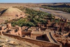 Kasbah Ait Benhaddou nas montanhas de atlas de Marrocos Imagens de Stock Royalty Free