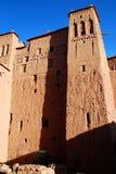 Kasbah. Ait Benhaddou Souss-Massa-Drâa, Marocko Arkivbild