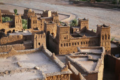Kasbah ait benhaddou from top Royalty Free Stock Images