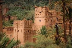 Kasbah Amridil. Skoura. Morocco. Kasbah Amridil from one of the watchtowers. Ouled Yaacoub. Skoura Morocco Stock Photography