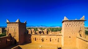 Kasbah Amridil w oazie Skoura w Maroko fotografia royalty free