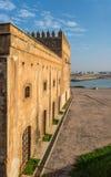 Kasbah av den Udayas och Bou Regreg floden morocco rabat morocco rabat Arkivbilder