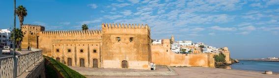 Kasbah av den Udayas och Bou Regreg floden morocco rabat morocco rabat Arkivbild
