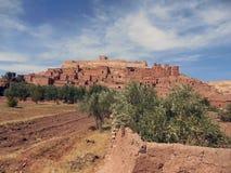Kasbah av haddouen för Ait ben, Ouarzazate - Marocko Royaltyfria Foton