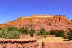 Kasbah av Tifoultoute, Marocko arkivbild
