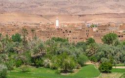 Kasbah Berber в ущелье Todra, Марокко Стоковое Изображение