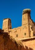 Kasbah in Bou Tharar-Dorf Marokko, das Tal von Rosen Lizenzfreie Stockbilder