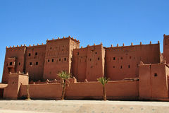 Kasbah - castle in  Morocco Stock Photography