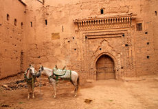 Kasbah courtyard Stock Photography