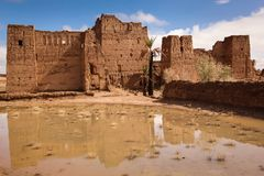 Kasbah dans les ruines Skoura morocco Photographie stock libre de droits