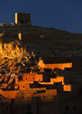 Kasbah de Ait Benhaddou, ao longo da rota anterior da caravana Imagens de Stock