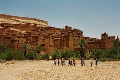 Kasbah de AIT Benhaddou, Marrocos Foto de Stock