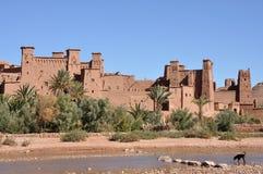 Kasbah de AIT Benhaddou, Marrocos Fotografia de Stock Royalty Free