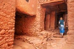 Kasbah de visite de touriste photo libre de droits