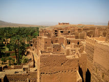 Kasbah des Caids (Morocco). Kasbah des Caids is located in the oasis valley of the Draa river, concretely in Tamnougalt (Morocco). It was built in the 16th Royalty Free Stock Image