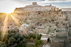 Kasbah et oasis Images stock