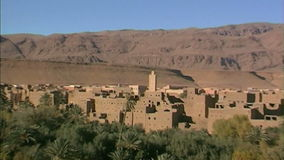 Kasbah in Higt Atlas Mountains. Morocco. Stronghold of berbers in picturesque environment of Higt Atlas Mountains. Morocco stock video