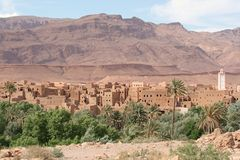Kasbah in Morocco. Kasbah in the eastern part of Morocco Stock Images