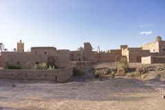 Kasbah in Morocco. A kasbah or in older English casbah; a qasbah or qassabah in India, is a type of medina, Islamic city, or fortress (citadel Royalty Free Stock Photography