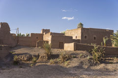 Kasbah in Morocco. A kasbah or in older English casbah; a qasbah or qassabah in India, is a type of medina, Islamic city, or fortress (citadel Stock Photography