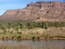 Kasbah no vale de Draa, Marrocos foto de stock royalty free