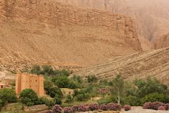 Kasbah. One of the Kasbah in the Gorge du Dades, Morocco Stock Image