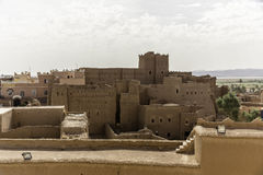 Kasbah in ouarzazate. Old traditional arab fortress In the city of Ouarzazate in Morocco Royalty Free Stock Image