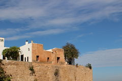 Kasbah of Oudayas,  Morocca Africa. The Kasbah of the Udayas is a kasbah in Rabat, Morocco, located at the mouth of the Bou Regreg river opposite Salé. It was Stock Images