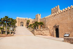 Kasbah in Rabat. The Kasbah of the Udayas fortress in Rabat in Morocco. The Kasbah of the Udayas is located at the mouth of the Bou Regreg river in Rabat stock image