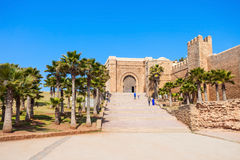 Kasbah in Rabat. The Kasbah of the Udayas fortress in Rabat in Morocco. The Kasbah of the Udayas is located at the mouth of the Bou Regreg river in Rabat stock images