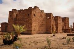Kasbah in ruïnes Skoura marokko stock fotografie