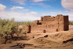 Kasbah in ruïnes Skoura marokko stock foto's