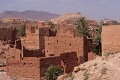 Kasbah ruins on the outskirts of the village, Morocco Royalty Free Stock Photos