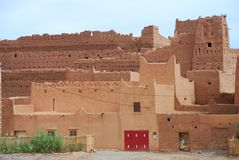 Kasbah in ruins and traditional houses. Near Agdz, Stock Photos