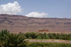 Kasbah slott Marocko arkivfoton