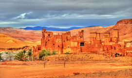 Kasbah Tamdaght, an ancient fortress in Morocco Royalty Free Stock Image
