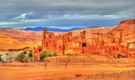 Kasbah Tamdaght, uma fortaleza antiga em Marrocos Imagem de Stock Royalty Free